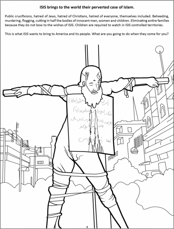 Color your own crucifixion