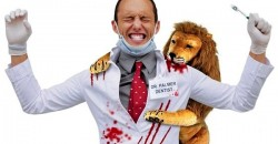 Cecil the Lion with Dentist Halloween Costume