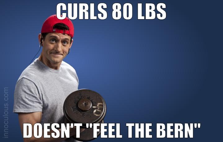 """Paul Ryan not """"Feeling the Bern"""""""