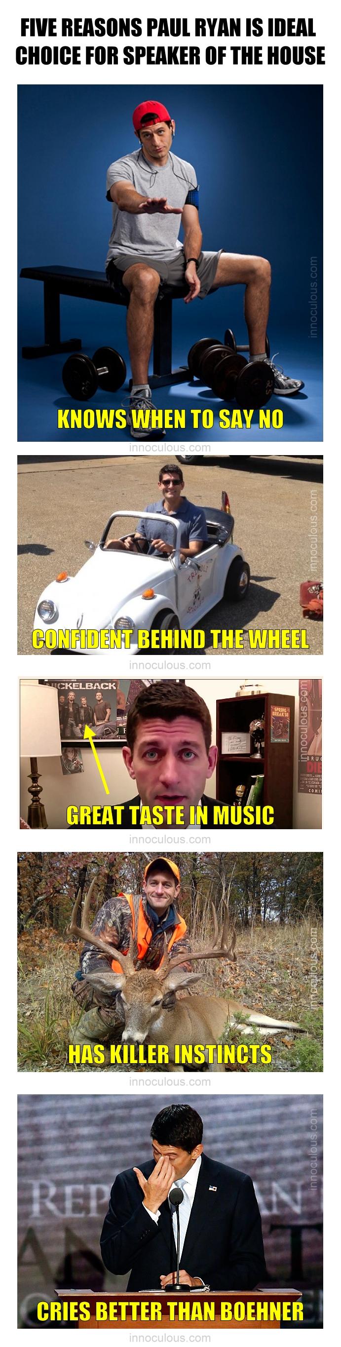 Five Reasons Paul Ryan
