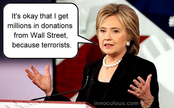 Hillary Clinton Wall St