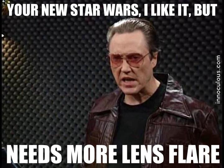 Chris Walken Needs more lens flare