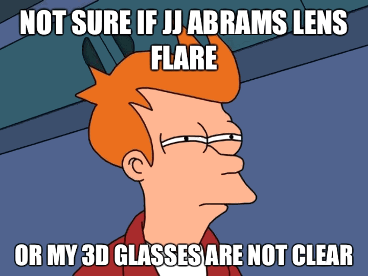 Not sure if JJ Abrams lens flare or...