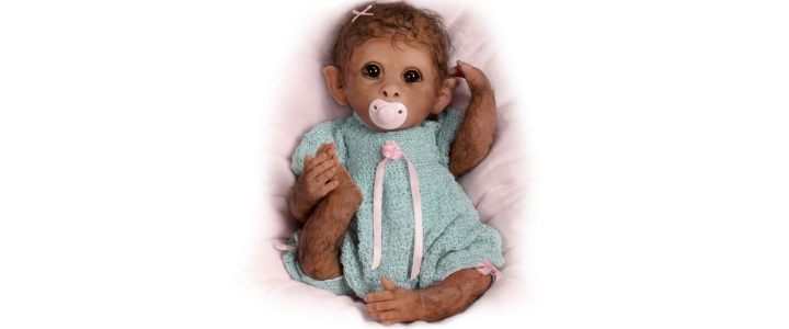 So Truly Real Weighted And Fully Poseable Baby Monkey Doll