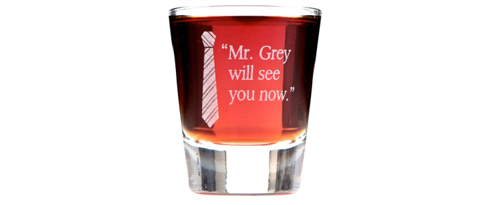 Mr. Grey Will See You Now Shot Glass