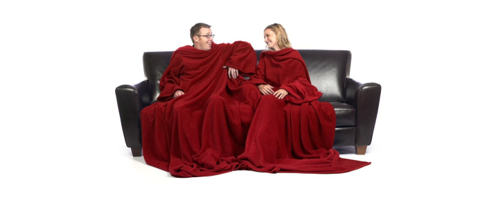 The Ultimate Siamese Slanket, The Original Blanket With Sleeves, Super Soft Faux Fur Throw Blanket, 120x80