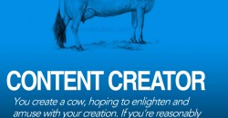 Content Creator Cow