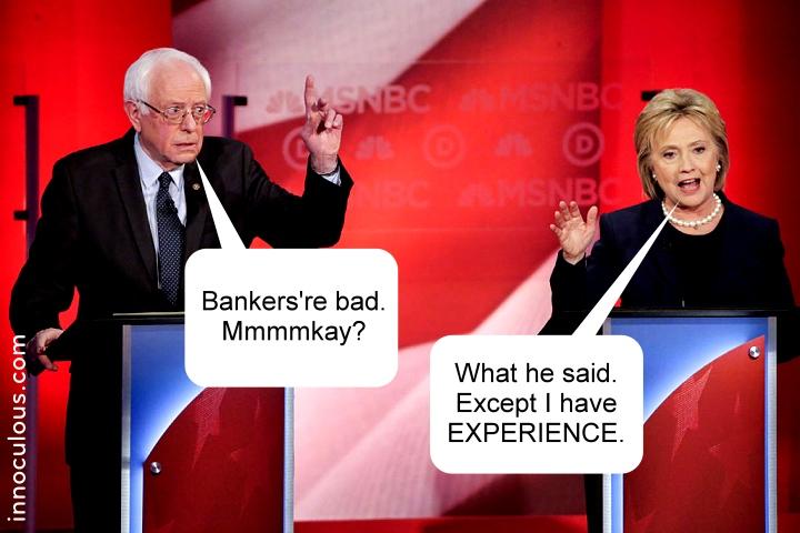 Bernie Hillary MSNBC debate polite version