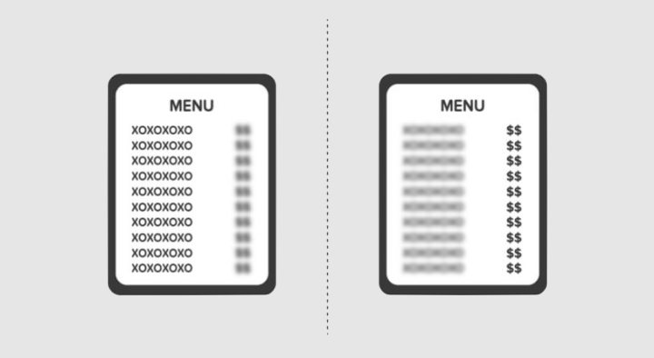 Two kinds of people menu prices