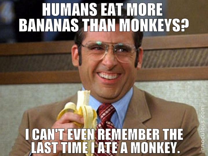 Who Eats More Bananas Humans Or Monkeys Innoculous Com