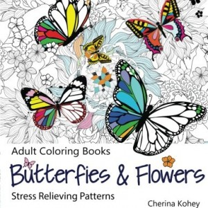 Adult-Coloring-Book-Butterflies-and-Flowers-Stress-Relieving-Patterns-Volume-7-0