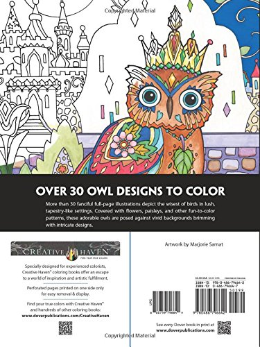 Creative Haven Owls Coloring Book Adult 0