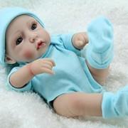 Cute-Little-Boy-Baby-Doll-10inch-Handmade-Full-Viny-Doll-With-Romper-0-2