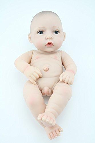 cute little boy baby doll 10inch handmade full viny doll with romper