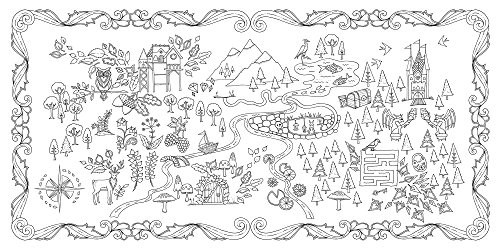 Enchanted Forest An Inky Quest Coloring Book 0