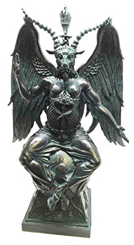 Large-15H-Church-of-Satan-Baphomet-Sabbatic-Goat-Idol-Satanic-Occultic-Statue-0