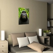 MONKEY-SELFIE-Premium-Canvas-Art-Print-16×24-inch-Large-Animal-Wall-Art-Deco-Canvas-Picture-Stretched-on-Wooden-Frame-as-Modern-Gallery-Artwork-e6625-0-2