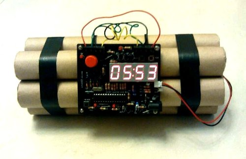 Novelty Defusable Bomb Alarm Clock / Bomb-like Alarm Clock ...