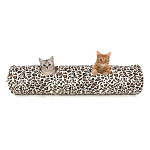 PAWZ-Road-Cat-Tunnel-Leopard-Print-Crinkly-Cat-Fun-2-Holes-Long-Tunnel-Kitten-Toys-0