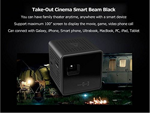Sk smart beam black pico portable mini projector dlp led for Best projector for apple products