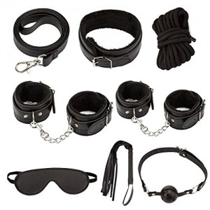 SM-Sex-Toys-Loveryoyo-Slave-Passion-Love-System-Sex-Bondage-Kit-Set-7pcs-Bed-Restraints-for-Couple-Lover-AdultBlack-0