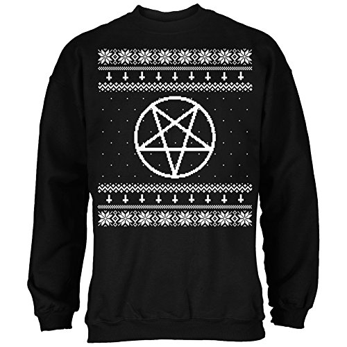 Satanic-Pentagram-Ugly-Christmas-Sweater-Black-Adult-Sweatshirt-Large-0