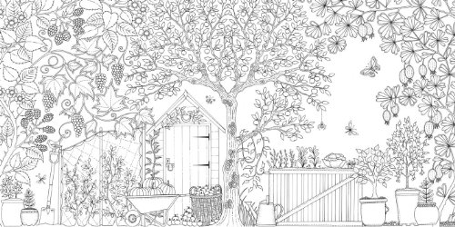 Secret Garden: An Inky Treasure Hunt and Coloring Book | Innoculous.com