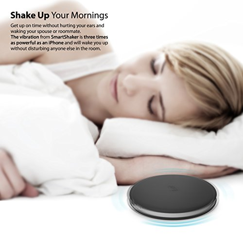 iLuv SmartShaker Award Winning App-Enabled Portable Travel Alarm Shaker  with vibration, ring tone, and combination option – compatible with iPhone,