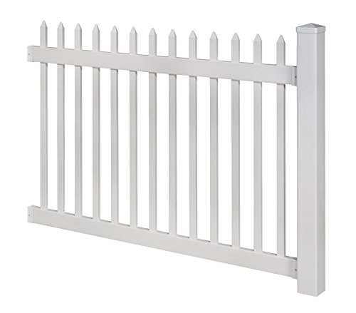 Wambam No Dig Nantucket Vinyl Picket Fence With Post And