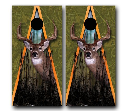 BUCK-WHITETAIL-DEER-HUNTING-CORNHOLE-WRAP-SET-High-Quality-Vinyl-Board-DECAL-Baggo-Bag-Toss-Boards-MADE-IN-the-USA-0