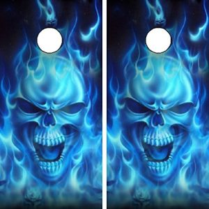 C15-Flaming-Skull-CORNHOLE-LAMINATED-DECAL-WRAP-SET-Decals-Board-Boards-Vinyl-Sticker-Stickers-Bean-Bag-Game-Wraps-Vinyl-Graphic-Tint-Image-Corn-Hole-0
