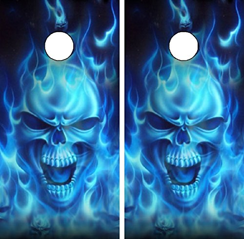 C15 Flaming Skull Laminated Decal Wrap Set