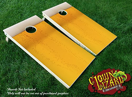 Cl0038 beer cornhole laminated decal wrap set decals