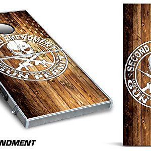 Custom-Corn-Hole-Vinyl-Wrap-for-Bean-Bag-Toss-Game-2nd-Amendment-0