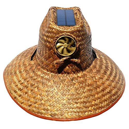 cf2b2fcb900 Kool Breeze Solar Hat Male Palm Leaf Thrman Hat w o band Large ...