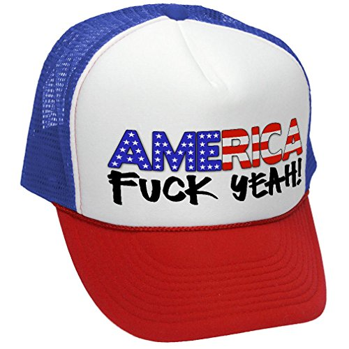 b392361d6a4 AMERICA - FUCK YEAH! 4th july patriotic usa - Unisex Adult Trucker ...