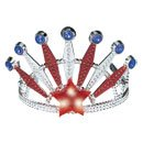 Amscan-Star-Spangled-4th-of-July-Patriotic-Faux-Gem-Stone-Light-Up-Tiara-1-Piece-Multi-Color-6-x-6-0