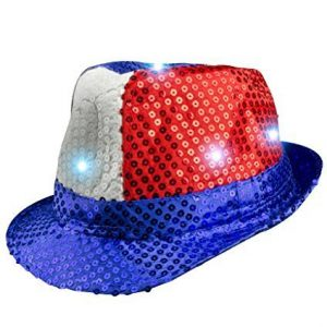Fun-Central-AI798-LED-Light-Up-Patriotic-Sequin-Fedora-0