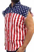 Mens-USA-Flag-Sleevless-Denim-Shirt-Biker-0-1