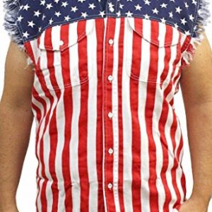 Mens-USA-Flag-Sleevless-Denim-Shirt-Biker-0