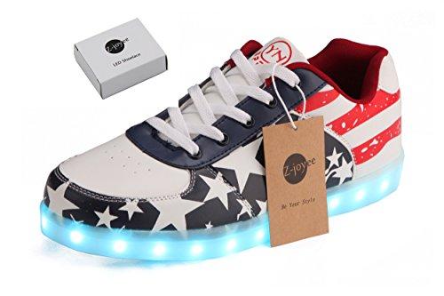 49be68e03f7 Z-joyee Unisex Women Men USB Charging LED Sport Shoes Flashing Fashion  Sneakers  Men Size