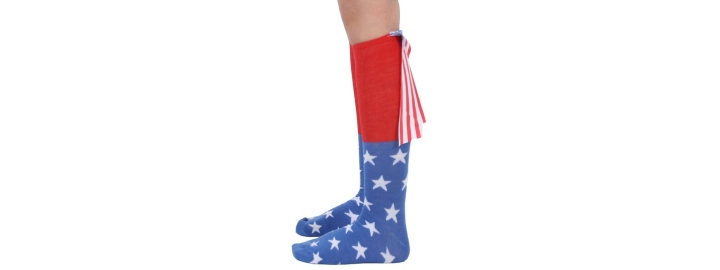 American Flag Cape Socks