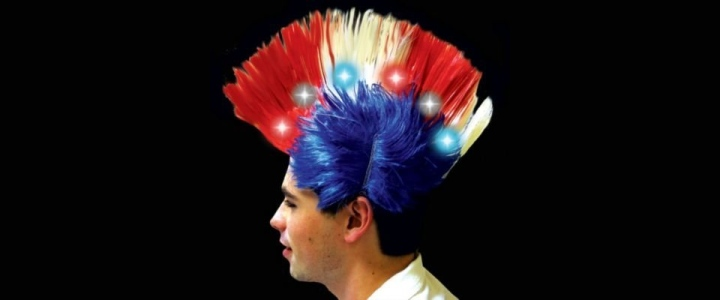 LED-adorned Mohawk Wig by Windy City Novelties