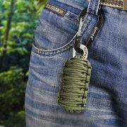 Gonex-550-Paracord-Survival-Bracelet-Grenade-Keychain-Emergency-Survival-Kit-with-Carabiner-Eye-Knife-Fire-Starter-Fishing-Tool-for-Camping-Hiking-Hunting-Travel-0-2