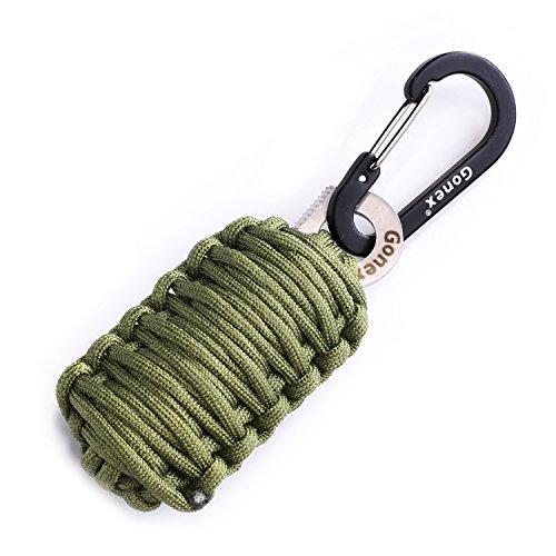 Gonex 550 paracord survival bracelet grenade keychain for Survival rope keychain