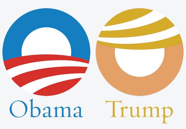 Trum Obama Campaign Logos
