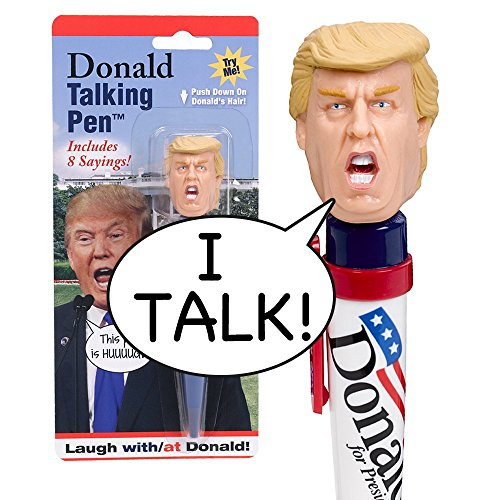 Donald-Talking-Pen-8-Different-Sayings-Trumps-REAL-VOICE-Just-Click-and-Listen-Funny-Gifts-for-Trump-Hillary-Fans-Superior-Audio-Quality-Replaceable-Batteries-Included-Trump-Pen-0