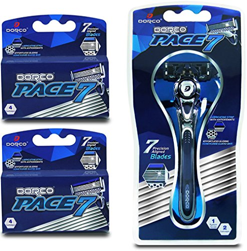 Dorco-Pace-7-Worlds-First-and-Only-Seven-Blade-Razor-System-Value-Pack-10-Cartridges-1-Handle-0