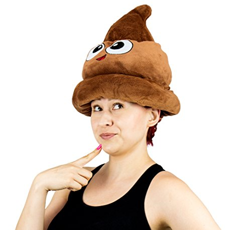 Fiesta-Toys-Emoji-Poop-Plush-Emoticon-Hat-12-Inches-0