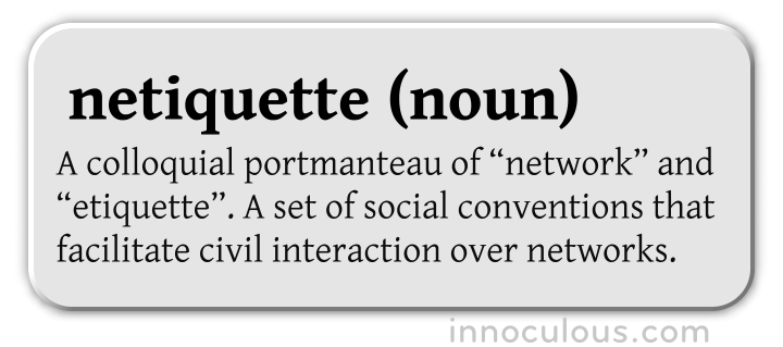 netiquette-definition